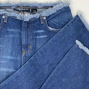Express Flare Jeans with Raw Hem Trim